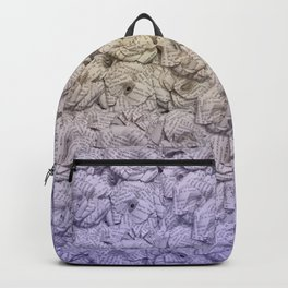 Cold Purple Ombre Book Flowers Backpack