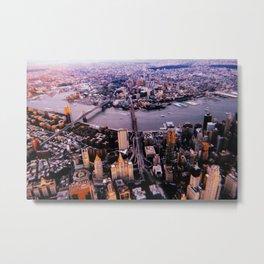 New York City // Retro 51 Metal Print