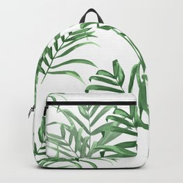 Summer Palms | Palm Leaves on White Backpack