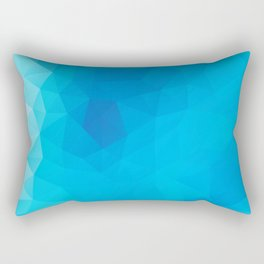 """Out of the blue"" geometric design Rectangular Pillow"