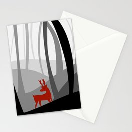 Reindeer in a forest Stationery Cards