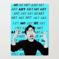 meme Canvas Prints featuring Art Meme  by Madison Daniels