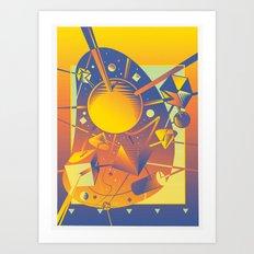 Space Tech Art Print