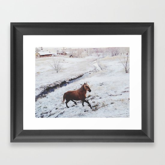 Winter Hill Horse Framed Art Print