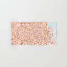 Buenos Aires map, Argentina Hand & Bath Towel