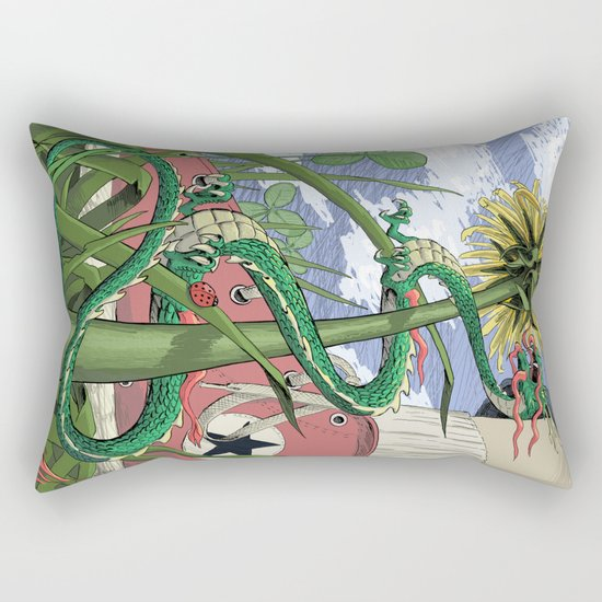 Dragons Unseen  Rectangular Pillow