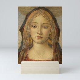 "Sandro Botticelli ""The Virgin and Child with Saint John and an Angel"" The Virgin Mini Art Print"
