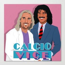 Batistuta and Gullit in Calcio Vice Canvas Print