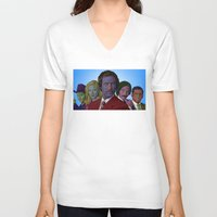 anchorman V-neck T-shirts featuring Anchorman by CultureCloth