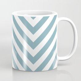 Chevron Royal Blue Navy Blue White Indigo Modern Minimal Art Interior Coffee Mug