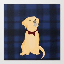Best Friend Labrador Puppy In A Bow Tie Canvas Print