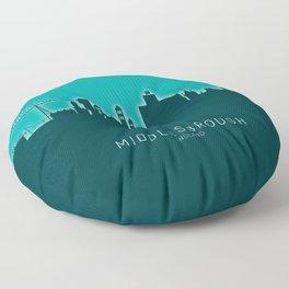 Middlesbrough England Skyline Floor Pillow