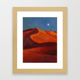 Dunes at Dusk Framed Art Print