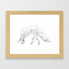 Stegasaurus Framed Art Print