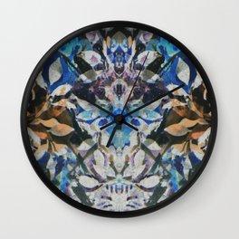 Rorschach Flowers 10 Wall Clock