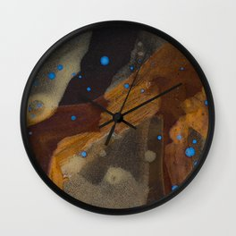 joelarmstrong_rust&gold_01 Wall Clock