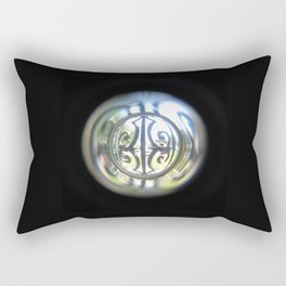 Through the Peephole Rectangular Pillow