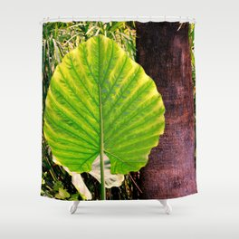 Green Heart Shower Curtain