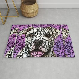 Pit Bull Stone Rock'd Art By Sharon Cummings Rug