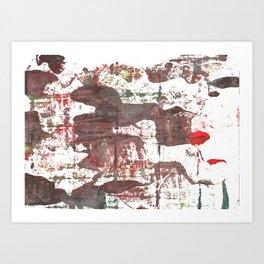 Deep Taupe abstract watercolor Art Print
