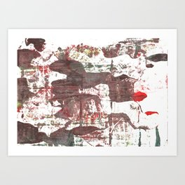 Deep Taupe abstract watercolor Art Print
