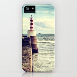 Amble Pier Lighthouse iPhone Case