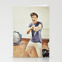 louis tomlinson Stationery Cards featuring Louis Tomlinson by Haley Nicole