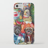 pugs iPhone & iPod Cases featuring PUGS by oxana zaika