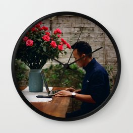 Flower Photography by Linh Pham Wall Clock