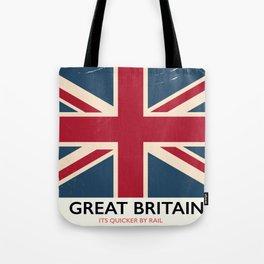 Great Britain Rail poster Tote Bag