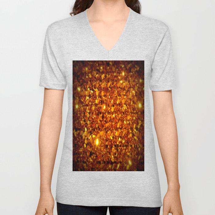 Copper Sparkle Unisex V-Neck