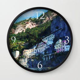 Amalfi Cliffs Wall Clock