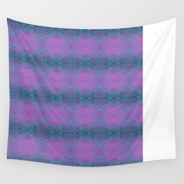 Dreamy turquoise and purple spirals  Wall Tapestry