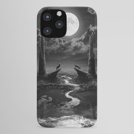 XVIII. The Moon Tarot Card Illustration iPhone Case