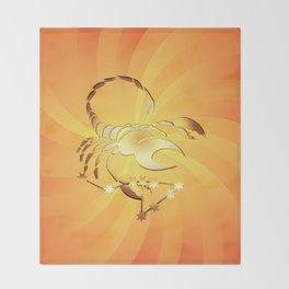 Sternzeichen Skorpion Throw Blanket