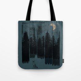 A Fox in the Wild Night... Tote Bag