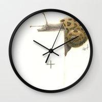 predator Wall Clocks featuring Predator  by Moth.