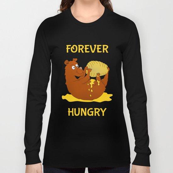 Hungry Bear Eating Honey Long Sleeve T-shirt