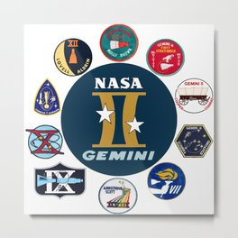Project Gemini Mission Logos Metal Print