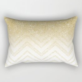 Modern gold ombre chevron stitch pattern Rectangular Pillow