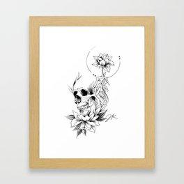 Skull Lotus Framed Art Print