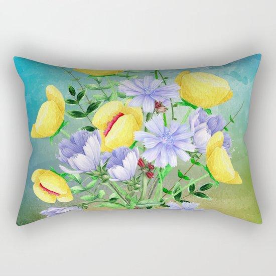 Flowers bouquet #21 Rectangular Pillow