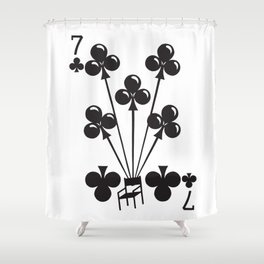 Curator Deck: The 7 of Clubs Shower Curtain