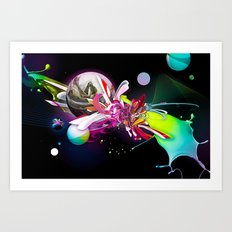 Splash Runner Art Print