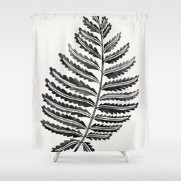 Fern Leaf – Black Palette Shower Curtain