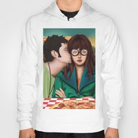 daria Hoodies featuring Daria with Pizza and Friends by Artik