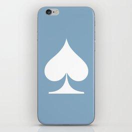 spade sign on placid blue background iPhone Skin