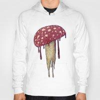 mushroom Hoodies featuring Mushroom by Lime