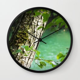Last moments of the sun Wall Clock