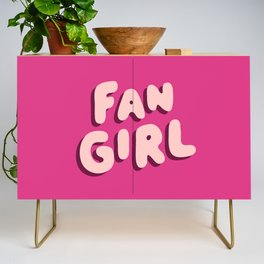 Fangirl in Pink Credenza